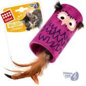 Игрушки для кошек Сова цилиндр-дразнилка со звуковым чипом, 22*8,5*8,5см (75355)