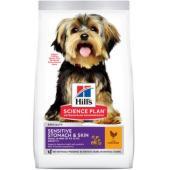 Для взрослых собак малых и миниатюрных пород с чувствительным желудком/кожей, курица (Sensitive Small&Miniature)