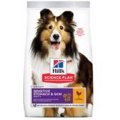 Для взрослых собак с чувствительным желудком и кожей (Adult Sensitive Stomach & Skin)