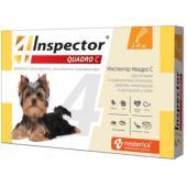 Inspector Quadro Капли на холку для собак 1-4 кг, от клещей, насекомых, глистов
