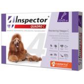 Inspector Quadro Капли на холку для собак 10-25 кг, от клещей, насекомых, глистов