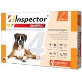 Inspector Quadro Капли на холку для собак 25-40 кг, от клещей, насекомых, глистов