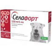 Селафорт Капли на холку от внешних и внутренних паразитов для собак 10,1-20кг, 1 пипетка 1мл
