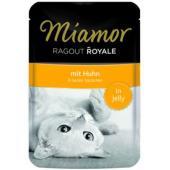 Рагу по-королевски с курицей, кусочки в желе для кошек, Ragout mit Huhn