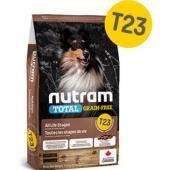Беззерновой корм для щенков и собак с индейкой, курицей и уткой Nutram T23 Total GRAIN-FREE