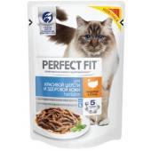 Пауч для взрослых кошек для красивой шерсти и здоровой кожи, с индейкой в соусе, Hair&Skin