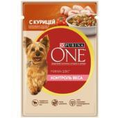 """Паучи для взрослых собак малых пород с курицей, рисом и томатами """"Контроль веса"""""""