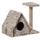 Домик для кошек меховой «Избушка» 62*37*54 см, джут