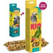 Палочки для крупных попугаев с фруктами и ягодами  2*90 г