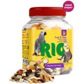 Фруктово-ореховая смесь. Лакомство для средних и крупных попугаев