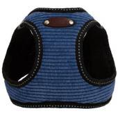 Шлейка для собак вельветовая №1 XXS (обхват груди 18-23см) синяя