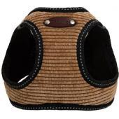 Шлейка для собак вельветовая №1 XXS (обхват груди 18-23см) песочная