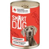 Консервы для взрослых собак и щенков кусочки говядины с морковью в нежном соусе