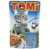 Консервы для кошек-пауч лосось с форелью