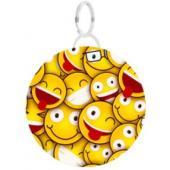 """Адресник """"Лира""""желтый, с рисунком """"улыбка"""", круг d28мм"""