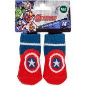 Носки для собак Marvel Капитан Америка, размер M, 3*7,5см