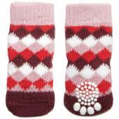 """Носки для собак """"Ромбы"""", размер M, 3*7,5см"""