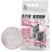 Комкующийся минеральный наполнитель для котят CAT STEP Compact White Baby Powder, 5 л
