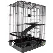 Клетка для животных, 2 полки, 61*46*77 см, черная (С5-1)