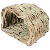 """Домик NATURAL для мелких животных из луговых трав """"Норка малая"""", 15*11*10см"""