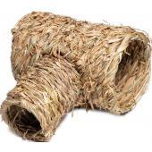 """Домик NATURAL для мелких животных из луговых трав """"Труба"""", 29*25*16см"""