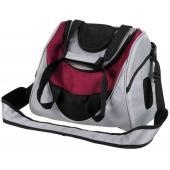 Рюкзак-переноска для животных Mitch, 35*28*22см, серебряный/ягодный (28955)
