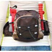 Рюкзак на пояс Multi Belt, ремень: 57–138 см, коричневый/бежевый (28861)