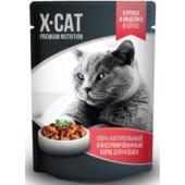 Влажный корм для кошек курица и индейка в соусе