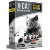 Набор паучей для кошек (4 вкуса)