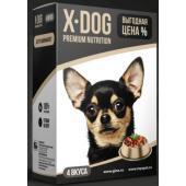Консервы для собак  X-DOG дегустационный сет 85 г х 4 шт.
