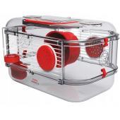 Клетка для грызунов RODY 3 MINI, 33*21*18см, цвет рубиново-красный