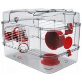 Клетка для грызунов RODY 3 SOLO, 41*27*28см, цвет рубиново-красный