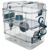 Клетка для грызунов RODY 3 DUO, 41*27*40,5см, цвет стальной синий