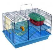 Клетка для грызунов 2-х этажная комплект (125) Этаж, лесенка-пластик 36х24х27 см