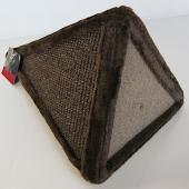 Когтеточка пирамида для кошек коричневая 24x24x40см