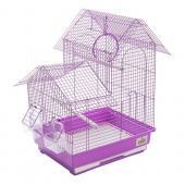Клетка Kredo для птиц A408 с кормушками, жердочками, качелями 34,5*28*47 см