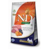 Сухой корм Farmina N&D GF PUMPKIN MINI для взрослых собак мелких пород с ягненком, черникой и тыквой