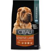 Farmina CIBAU Sensitive Lamb Medium & Maxi для собак средних и крупных пород с чувствительным пищеварением, ягненок