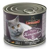 """Консервы для взрослых кошек Leonardo """"Quality Selection Rich In Rabbit"""" с мясом кролика"""