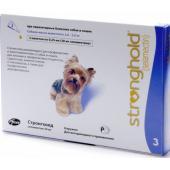 Стронгхолд капли от блох, ушных и чесоточных клещей, гельминтов для собак 2,5-5 кг, 3 пипетки (фиолетовые)