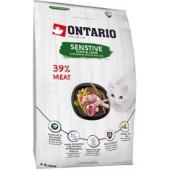 Для кошек с чувствительным пищеварением с уткой и ягненком (Ontario Cat Sensitive/Derma)