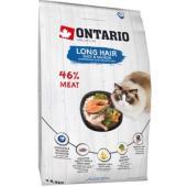 Для длинношерстных кошек с уткой и лососем (Ontario Cat Longhair)