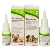 Суролан - ушные капли для лечения отита собак и кошек
