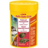 Корм для молодых черепах и рептилий гранулы Raffy baby-gran
