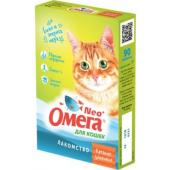 """Омега Neo +  Мультивитаминное лакомство для кошек """"Крепкое здоровье"""" с морскими водрослями, 90 таб."""