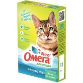 """Омега Neo +  Мультивитаминное лакомство для кошек """"Мятное настроение """" с кошачьей мятой, 90 таб."""
