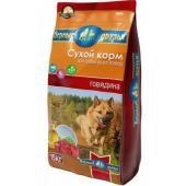 Сухой корм для взрослых собак всех пород Говядина, 15кг+3кг В ПОДАРОК