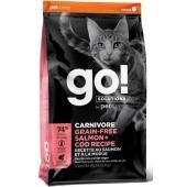Беззерновой для котят и кошек с лососем и треской (GO! CARNIVORE GF Salmon + Cod Recipe for Cats)