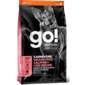 Беззерновой для собак всех возрастов c лососем и треской (GO! CARNIVORE GF Salmon + Cod Recipe DF)