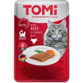 Консервы для кошек-пауч GF c говядиной в морковном желе